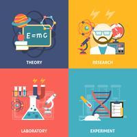 Conjunto de ícones decorativos de ciência