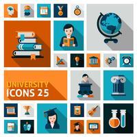 Conjunto de ícones da Universidade vetor