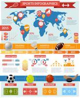 Esporte Infographics Set vetor