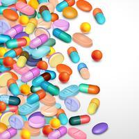 Fundo realista de comprimidos vetor