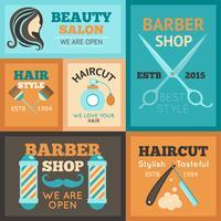 Conjunto de Poster Hairdress vetor