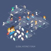 Conceito de fórum de Internet vetor