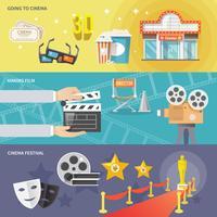 Conjunto de banners horizontais de cinema