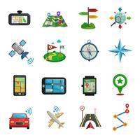 Conjunto de ícones plana de localização