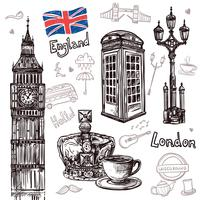 Conjunto de desenho de Londres vetor