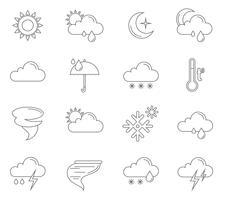 Contorno de ícones do tempo