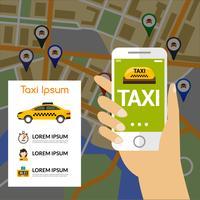 Mapa de Navegação de Táxi vetor