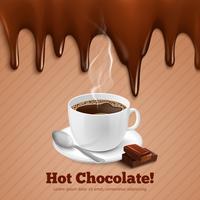 Chocolate e fundo de café vetor