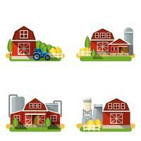 Conjunto plano de fazenda vetor