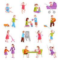 Conjunto de personagens de crianças