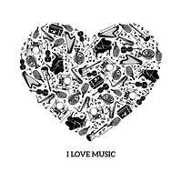 Conceito de música de amor vetor