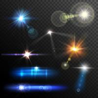 lens flares set vetor