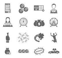 Conjunto de ícones de loteria vetor