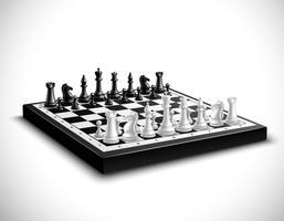 Ilustração realista de tabuleiro de xadrez vetor