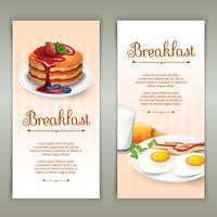 Conjunto de bandeiras verticais de café da manhã 2