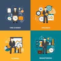 Gerenciamento de tempo plano vetor