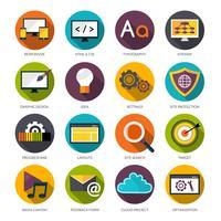 Conjunto de ícones de design web vetor