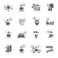 Conjunto de ícones de idéias vetor