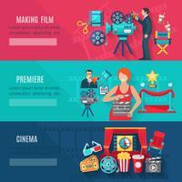 Conjunto de Banners de Produção Cinematográfica