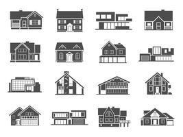 Conjunto de ícones de casa vetor