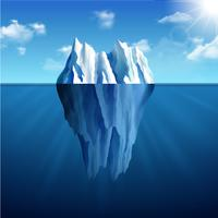 Ilustração de paisagem de iceberg vetor