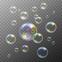 Conjunto de bolhas de sabão