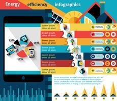 Infografia de eficiência energética vetor