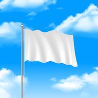 Bandeira no céu azul vetor