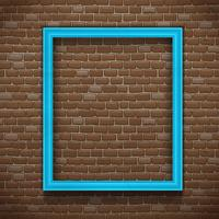 Moldura azul na parede vetor