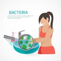 Conceito de higiene plana vetor