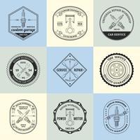 Emblemas de oficina de reparação