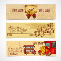 Banners de transporte vintage vetor
