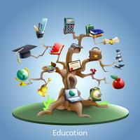 Conceito de árvore de educação vetor