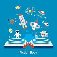 Ilustração de livro de ficção