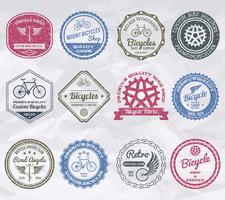 Selos de emblemas de ciclismo vetor