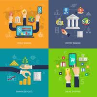conceito de design bancário