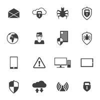 Ícones de segurança de rede
