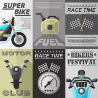 Conjunto de Poster Vintage Rider vetor