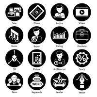 Estoque ícones preto