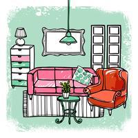 Ilustração de esboço de mobília