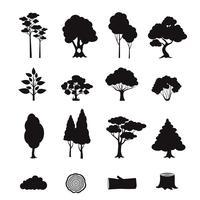Elementos floresta preto vetor