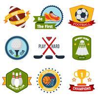 Conjunto de logotipos esportivos vetor