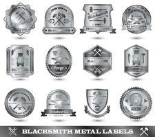 etiqueta de metal ferreiro vetor
