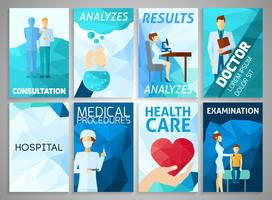 Conjunto de medicamentos de folheto vetor