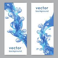 Banner de respingo de água vetor