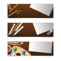 Banners de desenho horizontais vetor
