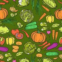 Padrão sem emenda de legumes
