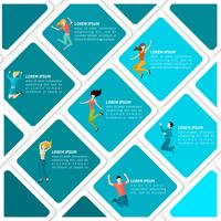 Infográfico de pessoas pulando vetor
