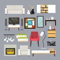 Conjunto de mobília de sala de estar