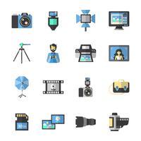 Ícones de fotografia plana